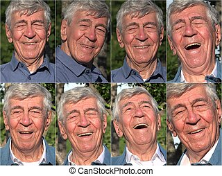 felice, vecchio, collage