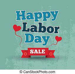 felice, vendita, giorno, lavoro