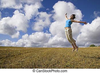 felicidade, salto
