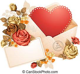 felicitación, día, valentino