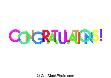 felicitación, transparant, carta, colorido