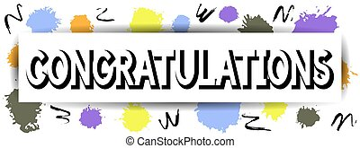 felicitaciones, card.