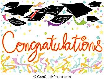 felicitaciones, sombrero