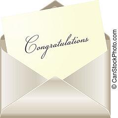 felicitaciones, tarjeta