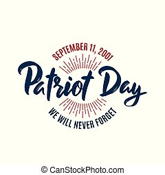 felirat, 9/11, szeptember, 11, patrióta, 2001., háttér., amerikai, karika, jelvény, nap