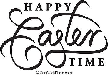 Felirat, boldog, húsvét, kéz