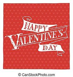 Felirat, boldog, kéz, Nap,  valentine's
