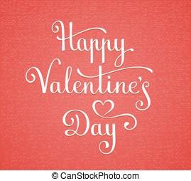 Felirat, boldog, Nap,  valentine's