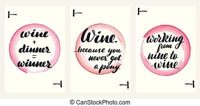 felirat, bor, idézőjelek