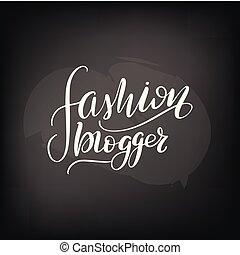 felirat, mód, blogger