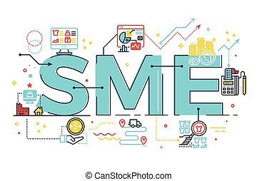 felirat, sme, szó, ábra, vállalat, közeg, kicsi