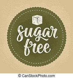 felirat, szüret, szabad, cukor, sötét, vektor, zöld, ábra, cube.