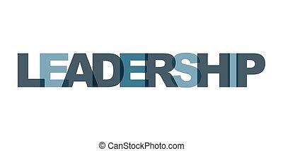 felirat, vezetőség, poster., ügy, elements., szín, szlogen, modern, text., vektor, tervezés, vezetés, kifejezés, nyomtat, művészet, szó, icon., kártya