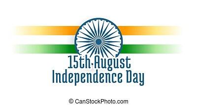 feliz, índia, dia, fundo, independência
