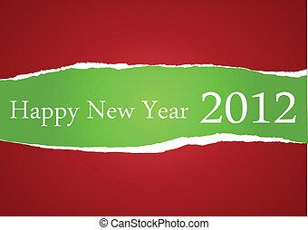 feliz, 2012, ano novo