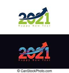 feliz, 2021, ano novo, cartão