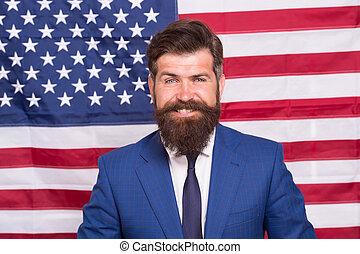 feliz, 4, spirit., julio, él, american., celebrar, américa, ...