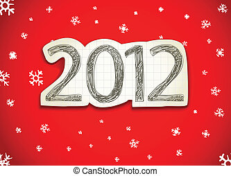 feliz, año, 2012