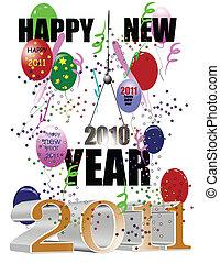 feliz año nuevo, 2011, blanco