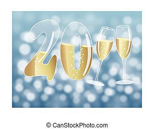feliz año nuevo, 2011, ilustración