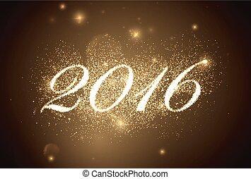 feliz, año, nuevo, 2016.
