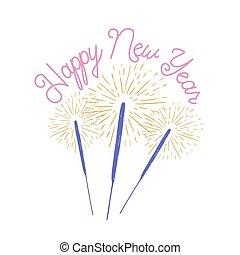 Letras Card Colorido Año Nuevo Decor Frase Russ Feriado