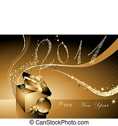 feliz año nuevo, plano de fondo