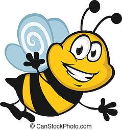 feliz, abeja
