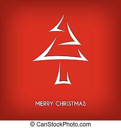 feliz, abstratos, árvore, seta, natal, vermelho