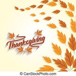 feliz, acción de gracias, holiday., otoño, plano de fondo,...