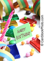 feliz aniversário, cartão
