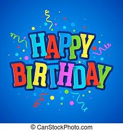 feliz aniversário, cartão cumprimento