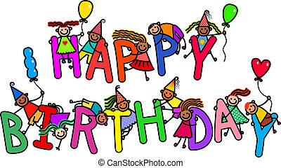feliz aniversário, crianças