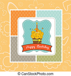 feliz aniversário, cupcake