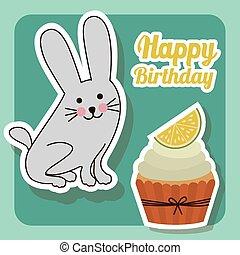 feliz aniversário, desenho