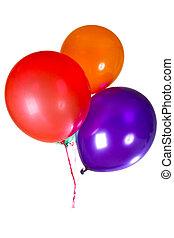 feliz aniversário, partido, balões, decoração, coloridos, multicolor
