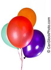 feliz aniversário, partido, balões, decoração
