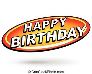 feliz aniversário, sinal