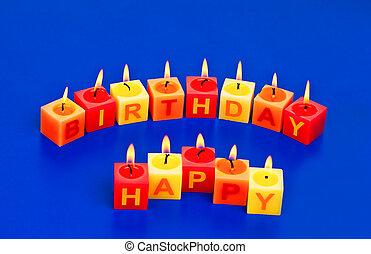 feliz aniversário, velas