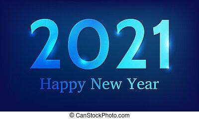 feliz, ano, fundo, novo, 2021, néon