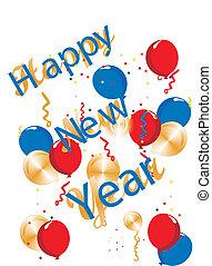feliz ano novo, genérico, ilustração