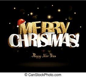 feliz, ano, novo, inscription., natal, feliz