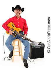 feliz, atractivo, país, músico, edad, 75