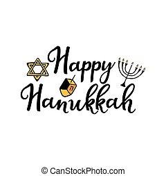 feliz, attributes, garabato, hanukkah., mano, style., ...