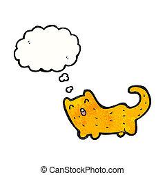feliz, caricatura, gato