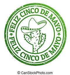 Feliz Cinco de Mayo stamp - Happy 5th of May in spanish...