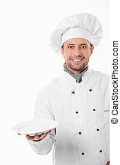 feliz, cozinheiro