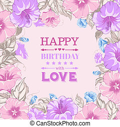feliz cumpleaños, card.