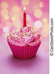 feliz cumpleaños, cupcake