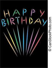 feliz cumpleaños, fuego artificial